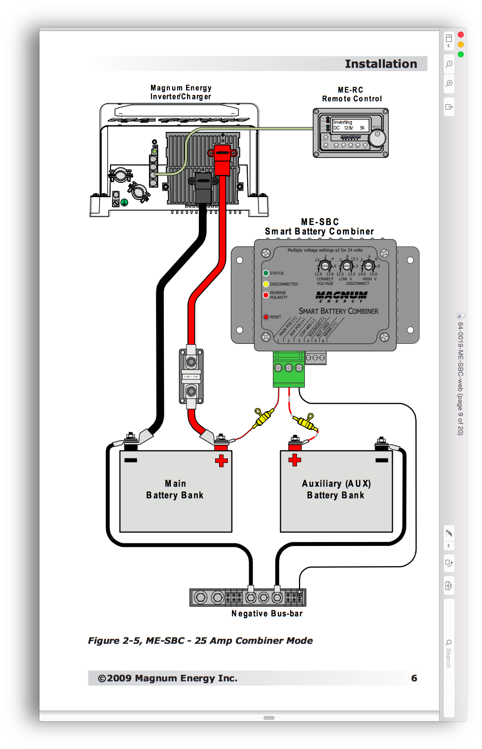 24 volt system wiring diagram product discussion magnum energy me sbc smart battery  product discussion magnum energy me sbc smart battery