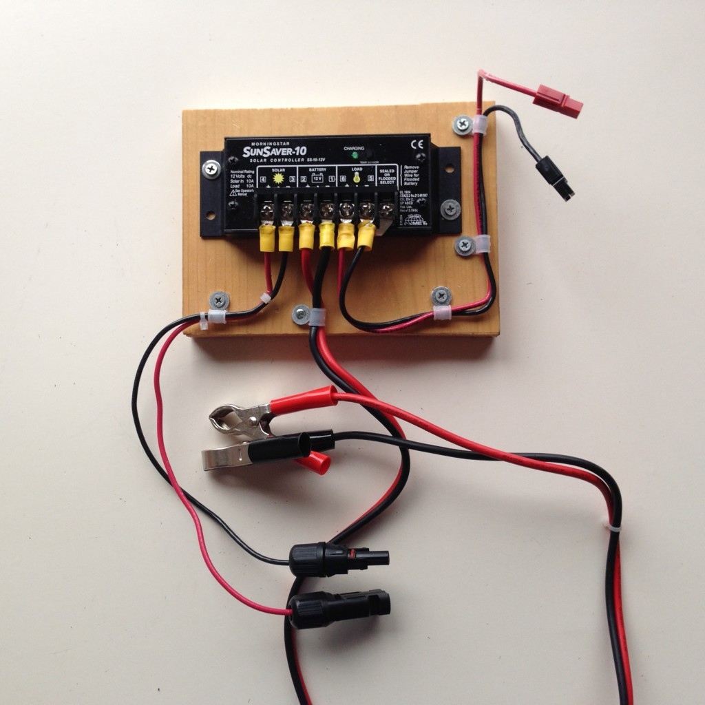 solar charge controller wiring example