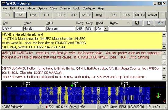 amateur radio data modes