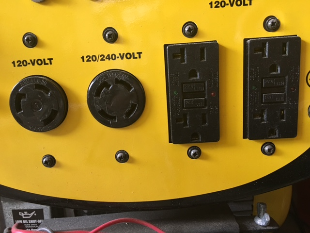 Lock Up My Generator : Generator safety power up without getting knocked out